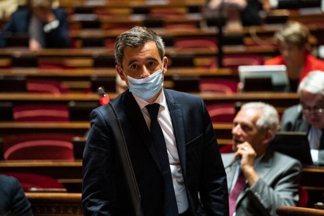Gérald Darmanin le 16 juillet 2020 au Sénat © Xosé Bouzas / Hans Lucas / Hans Lucas via AFP