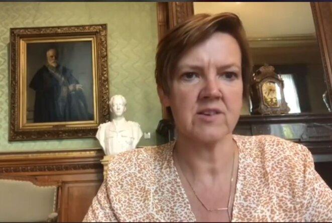 Els van Hoof, présidente de la commission des relations extérieures de la Chambre des représentants belge, dans un message vidéo adressé au sommet mondial pour un Iran libre