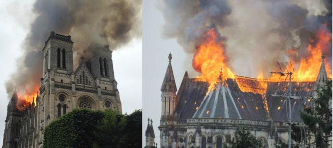 L'incendie de la basilique Saint-Donatien de Nantes, le 15 juin 2015