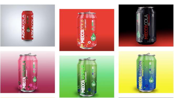 Capture d'écran du site internet de Mecca-Cola.