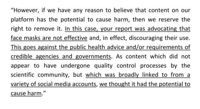 La réponse de Research Gate justifiant la censure de l'article de Rancourt