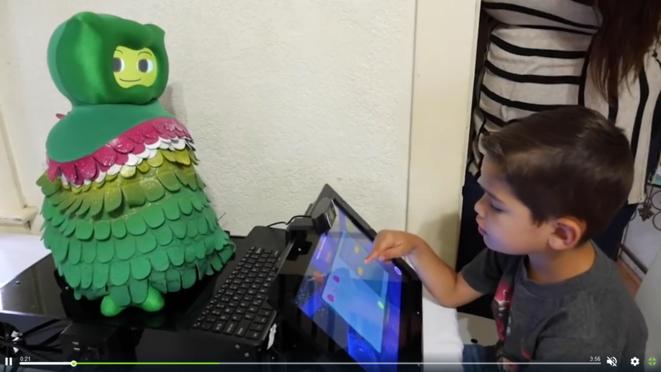 Robot créé pour aider les enfants autistes © Capture d'écran