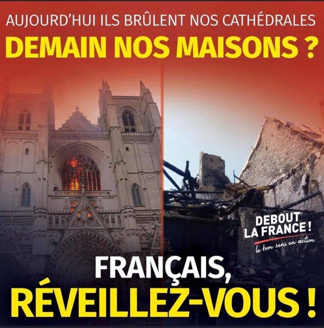 Affiche de propagande de Debout la France !