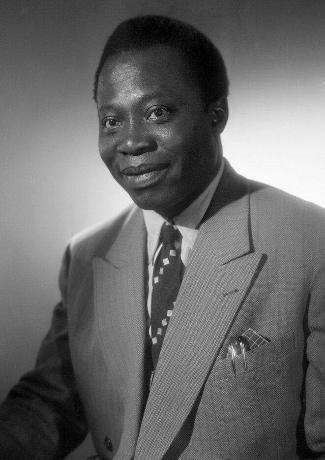 Portrait de Barthélemy Boganda, photographié dans les années 1950. © AFP