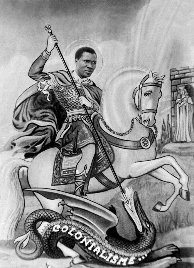 Une caricature de 1958 d'Ahmed Sékou Touré triomphant du colonialisme. © AFP