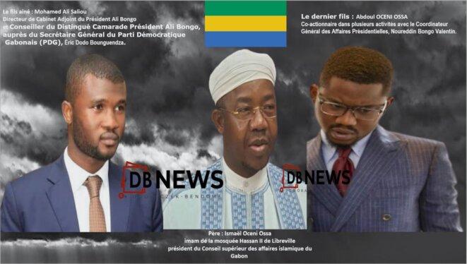 Gabon-Ismaël Oceni Ossa et ses fils : Mohamed Ali Saliou et Abdoul Oceni Ossa,