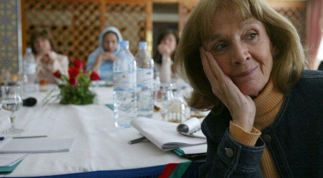 Mars 2004, au Maroc, à un colloque autour des femmes de la Méditerranée. © Abdelhak Senna / AFP