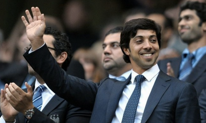 Le cheikh propriétaire de Manchester City. © AFP