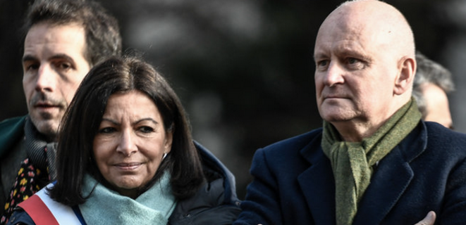 Anne Hidalgo et Christophe Girard. © AFP