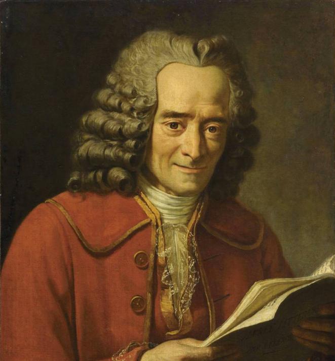 Voltaire lisant «L'Année littéraire» de Fréron, par Jacques-Augustin-Catherine Pajou.