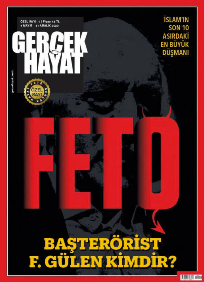 """La une de """"Gerçek Hayat"""" du 4 mai 2020."""