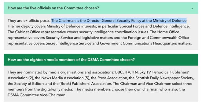 Les réunions des comités du DSMA se passent dans les locaux du Ministère de la Défense anglais