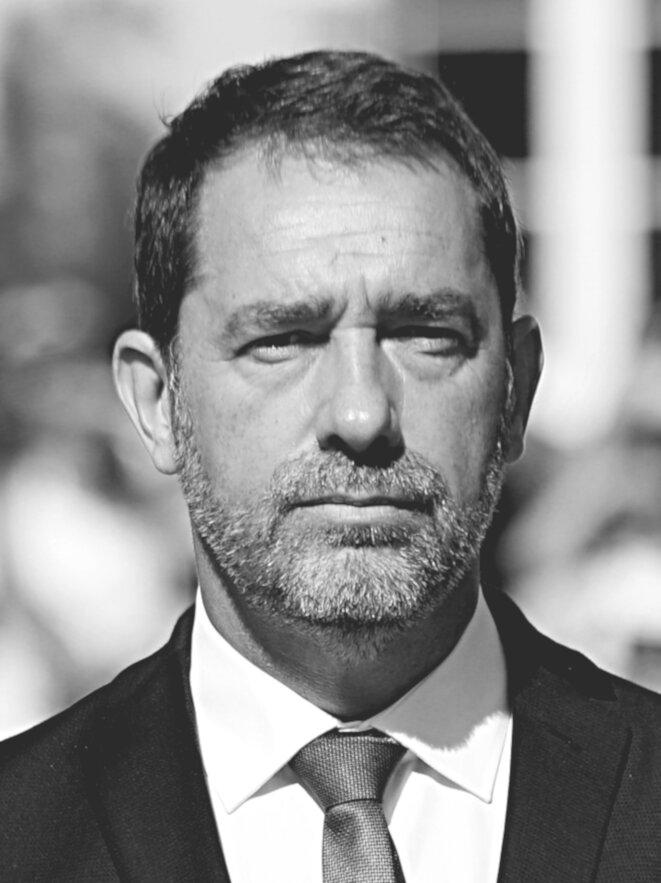 Christophe Castaner, ministre de l'Intérieur (école de police de Sens, août 2019). © Recadrage d'après «Arthur Empereur»/Wikimedia Commons, licence CC-BY-SA int. 4.0.