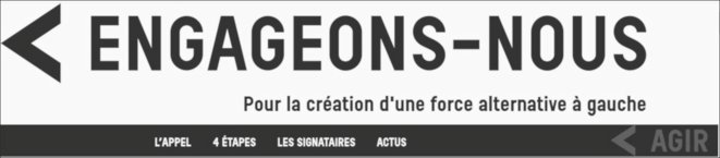 «Engageons-nous!» (copie d'écran du site internet).