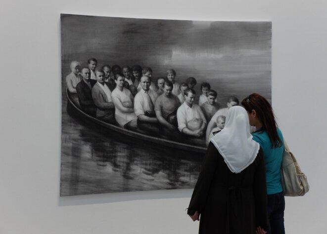 "Peter Martensen, ""The Transportation II"", 2017, Musée d'art moderne et contemporain de Saint-Etienne [Photo YF]"