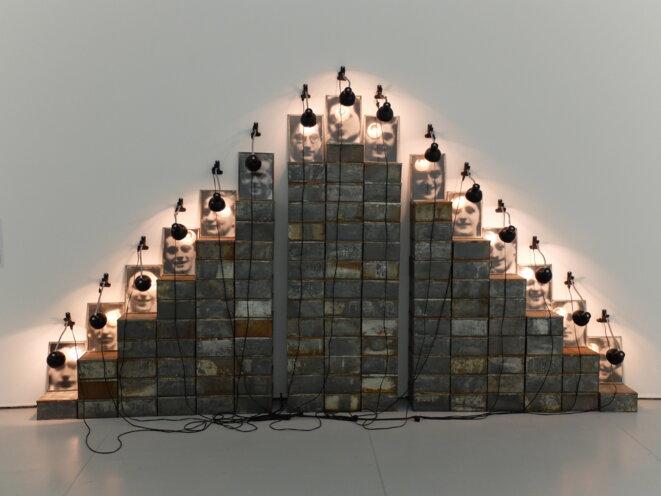 """Christian Boltanski, """"Autels Chases"""", 1988, Musée d'art moderne et contemporain de Saint-Etienne, 2017 [Photo YF]"""