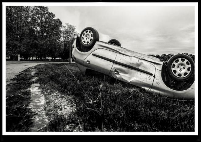 Un accident d'automobile © Guillaume Champeau in WikiMedia