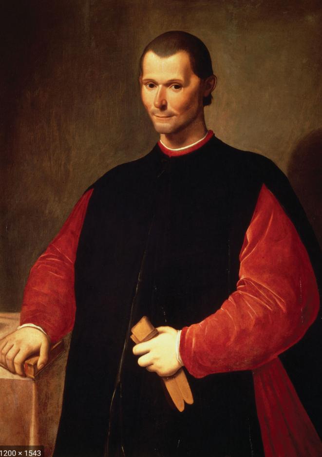 A portrait of Niccolò Machiavelli (1469-1527) by Santi di Tito. © dr