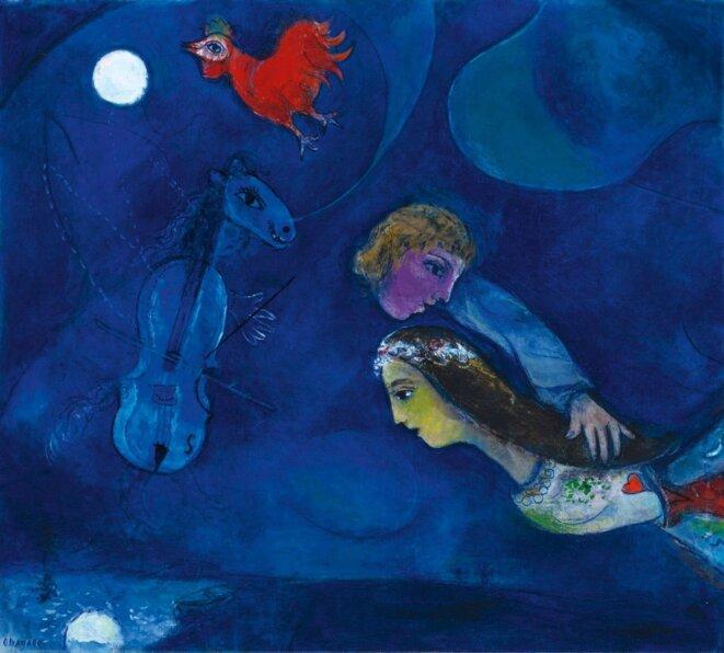 Coq rouge dans la nuit, Marc Chagall 1944