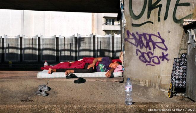 Pont de Clichy, ce matin, 6 août 2020. © Fernando ORELLANA