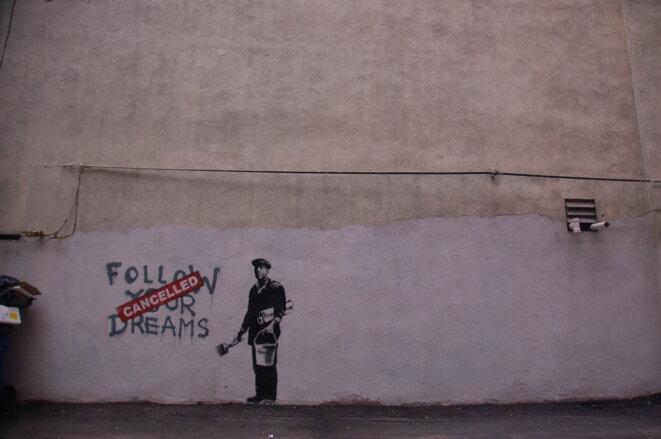 Une œuvre de Banksy à Boston. © Chris Devers/Flickr
