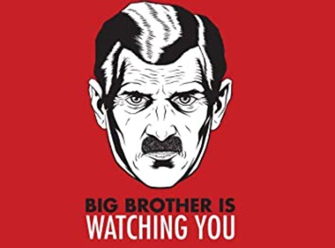 Affiche inspirée de 1984, Georges Orwell