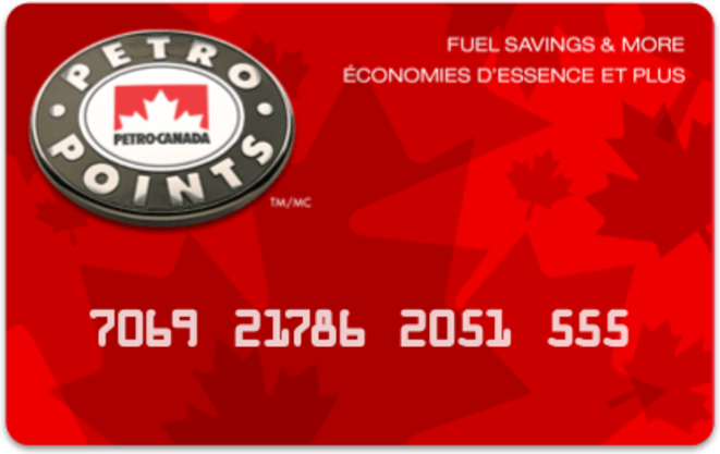 Petro-Points card with number © Dorien