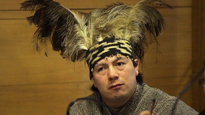 Celestino Córdova Tránsito, autorité spirituel mapuche, en grève de la faim en prison au Wallmapu © Cooperativa.cl