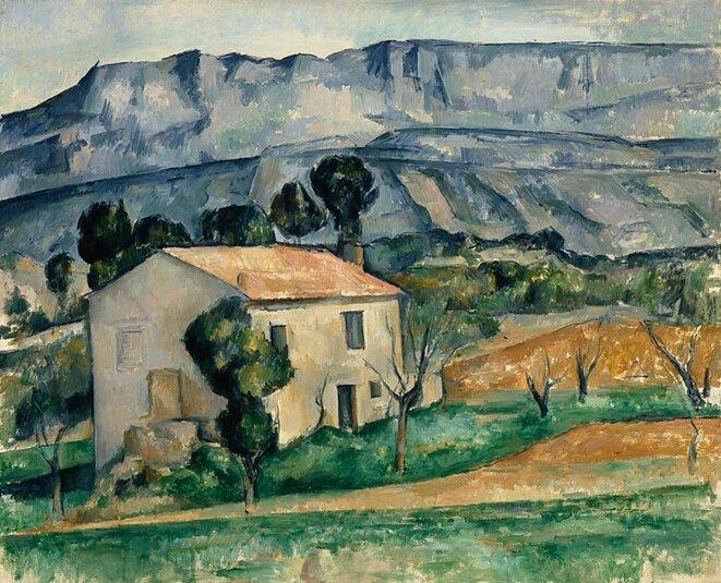 Paul Cézanne, Maison devant la Sainte-Victoire près de Gardanne, 1886-1890, 65,5 x 81,3 cm, Indianapolis Museum of Art.