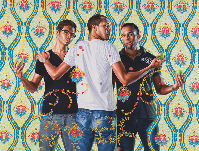 Kehinde Wiley, Les trois Grace, série The World Stage : France, huile sur toile, 2012 © Kehinde Wiley, courtesy Galerie Templon, Paris - bruxelles