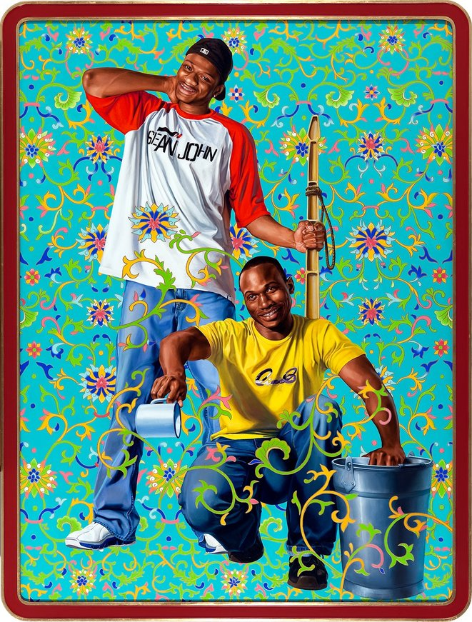 Kehinde Wiley, Bamboo shots, série The World Stage : China, huile sur toile, 2007 © Kehinde Wiley, courtesy Galerie Templon, Paris - bruxelles