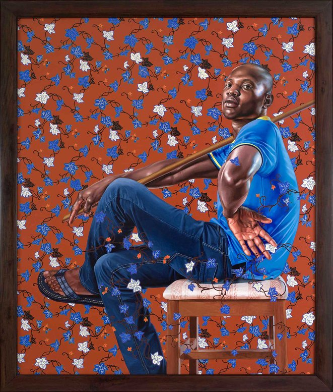 Kehinde Wiley, Monsieur Sériziat, série The World Stage : France, huile sur toile, 2012 © Kehinde Wiley, courtesy Galerie Templon, Paris - bruxelles