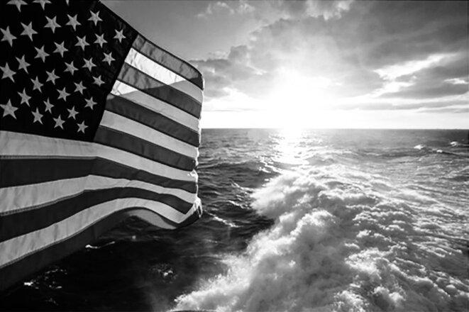 View from the USS Norfolk sailing on the Atlantic Ocean, 2015. © Michael Dlabaj