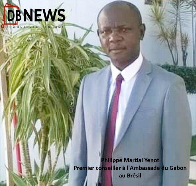 Philippe Martial Yenot, Premier conseiller à l'Ambassade du Gabon au Brésil.