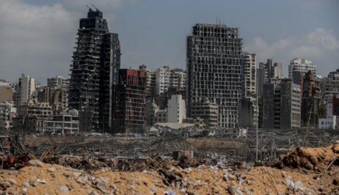 Port de Beyrouth après l'explosion du 4 août © Muhammet Fatih Ogras / Anadolu Agency via AFP