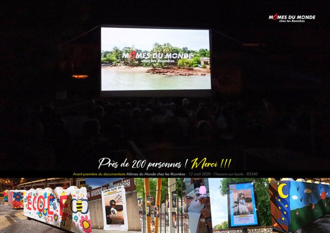 Près de 200 personnes étaient présentes lors de l'avant-première du documentaire Mômes du Monde chez les Roomkas, à Flassans-sur-Issole. © Mômes du Monde - Touche2style