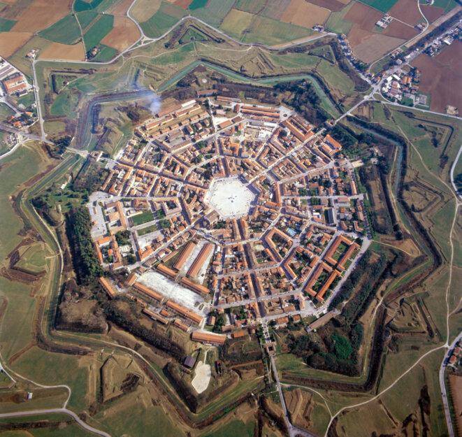 Vue aérienne de Palmanova