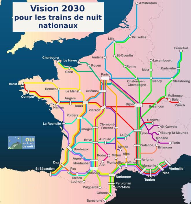 proposition des 15 trains de nuit nationaux
