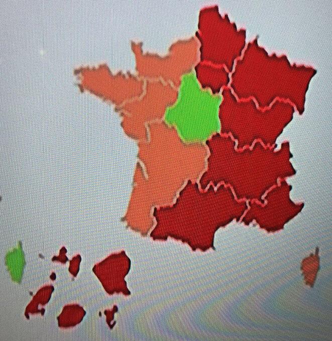 Carte de France du Covid19