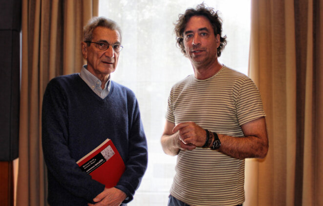 Toni Negri et Michael Hardt à Madrid, 2011. Source: Wikimedia Commons. © DarkMoMo