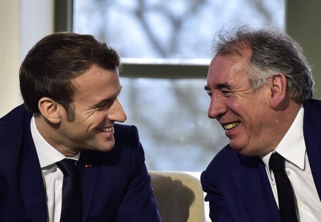 Macron et Bayrou en janvier 2020. © AFP