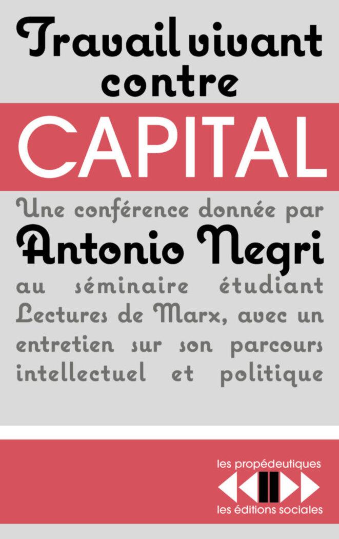 Couverture du livre publié aux Editions sociales, 2018.