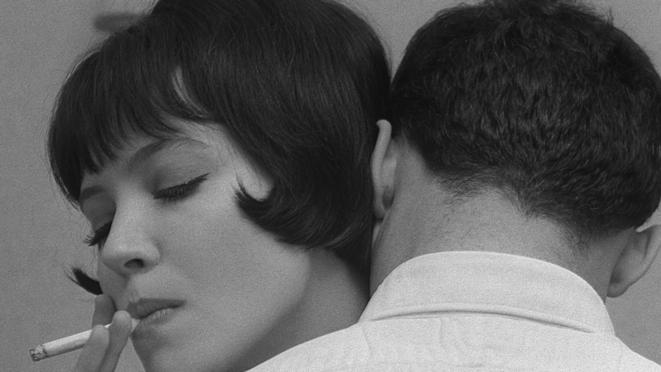 """Photogramme de """"Vivre sa vie"""", de Jean-Luc Godard, 1962."""