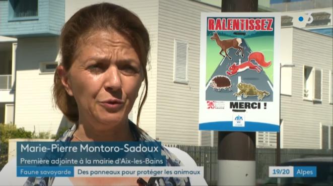 Marie-Pierre Montoro sur France3 Alpes le 19/08/20 © plbillot