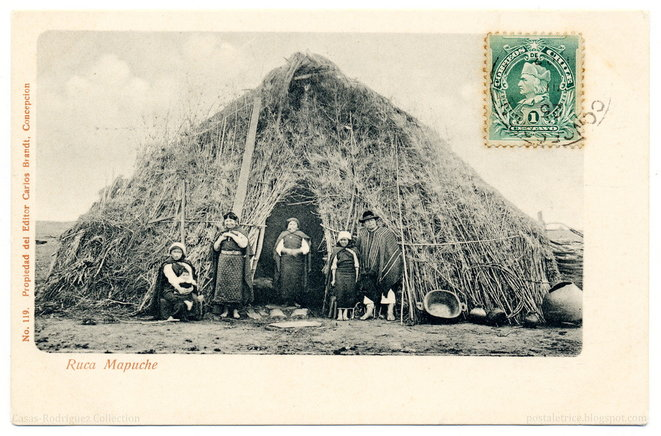 """Our Home: A Mapuche 'Ruca' (1903)"" © postaletrice CC BY-NC-ND 2.0"