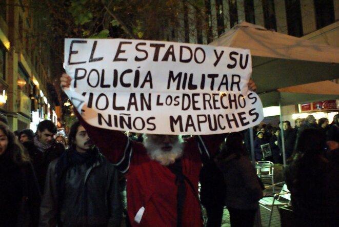 """""""Soutien à la grève de la faim des prisonniers politiques Mapuche"""" © Sin.fronteras CC BY-NC-ND 2.0"""
