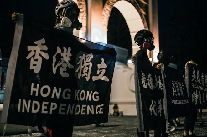 Manifestation de commémoration à Taipei le 4 juin 2020 de la répression du mouvement de Tiananmen. © Naomi Goddard