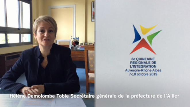 La secrétaire générale de la préfecture de l'Allier parle «intégration». © Capture d'écran, chaîne youtube de la préfecture, 7.10.2019