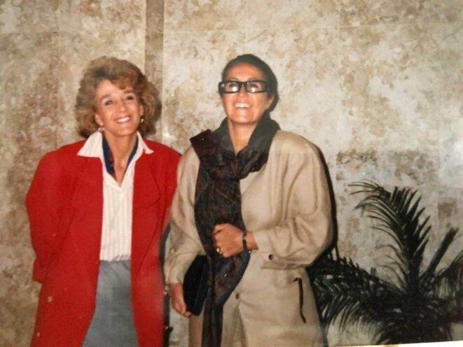 Sao-Polo, 1986. Rencontre des Experts de la Commission pour l'Élimination des discriminations contre les femmes, le CEDAW invités par le Président de la République du Brésil Giselle Halimi, Ambassadrice de France à l'UNESCO et Wassyla Tamzali,  Directrice des droits des Femmes .@Wassyla Tamzali.