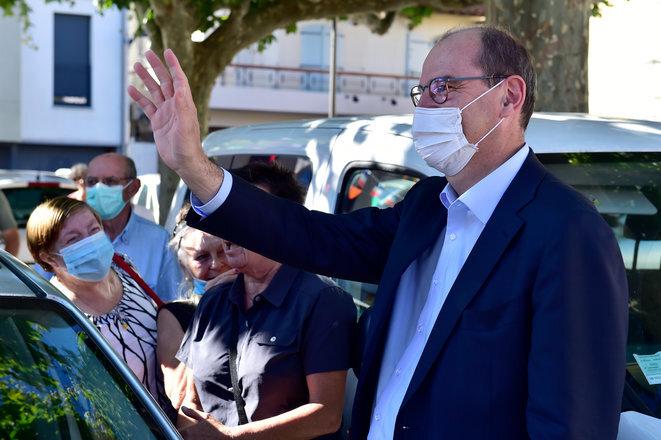 El primer ministro Jean Castex en Prades, el 18 de julio de 2020. © Georges GOBET/AFP